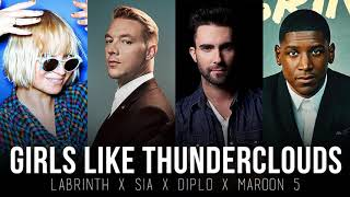 Girls Like You vs. Thunderclouds (MASHUP) LSD, Maroon 5