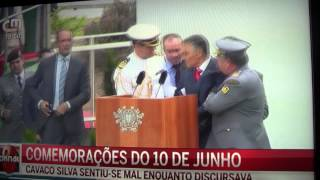 Cavaco Silva Desmaia 2014 - President of Portugal Pass out  on live TV