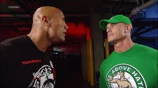 The Rock and John Cena look to Royal Rumble 2013: Raw, July 23, 2012 width=