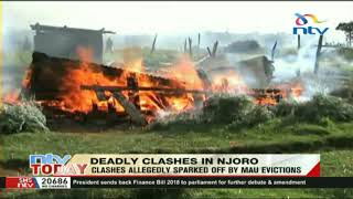 30 houses torched overnight in Njoro clashes