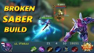 Mobile Legends: MOST OP BROKEN SABER BUILD - Saber Gameplay