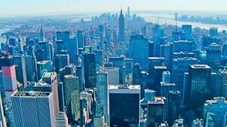 New York City Aerial Videos, Manhattan Skyline in 4K