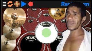 Guitarra humana + Real Drum 🎶Pisadinha🎶