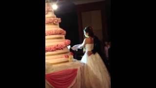 ตัดเค้กแต่งงาน