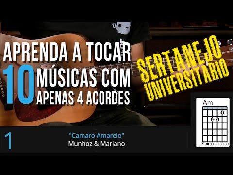APRENDA 10 MÚSICAS DO SERTANEJO UNIVERSITÁRIO COM APENAS 4 ACORDES