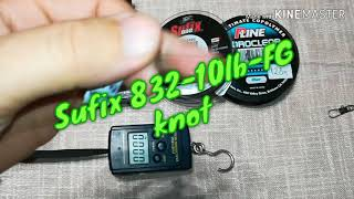 FG knot-Sufix 832,Power pro, Spiderwire, Power pro Z