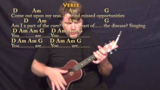 Clocks (Coldplay) Ukulele Cover Lesson in G with Chords/Lyrics