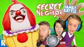 Secret Neighbor (Multiplayer MESS Family Battle!) Hello Neighbor Part 3 | KIDCITY GAMING
