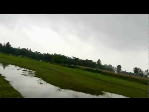 Walking near a PIME house outside of Dinajpur, Bangladesh