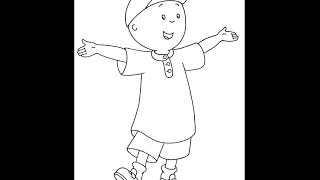 How to draw Caillou - Step by Step