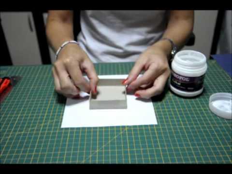 Mukavva Hediye Kutusu Yapımı- Making Chipboard Gift Box