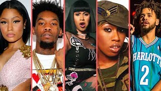 "Rappers React To ""Cardi B Bodak Yellow Reaching No. 1 On Billboard"" (Nicki Minaj J Cole Offset Remy)"