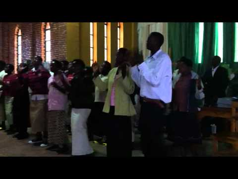Kigeme Cathedral Choir rejoicing in the Lord