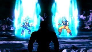 Vegeta Super Saiyan Blue Evolution Transformation Against Jiren