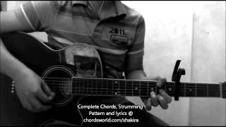 Broken Record Chords by Shakira - How To Play - chordsworld.com