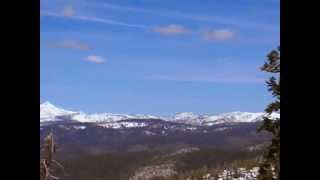 """Sierra Nevada's Snowpack - 3-20-14 - CA    State Rt. """"88"""" - Into Carson Valley, NV"""