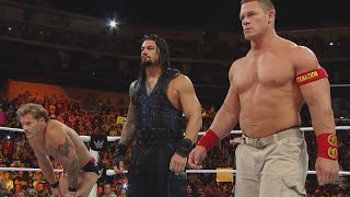 John Cena & Roman Reigns demolish Kane with The Authority looking on: Raw, Sept. 1,  2014