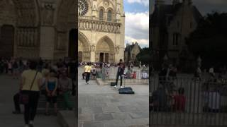 DESPACITO violin cover - Notre Dame Cathedral, Paris