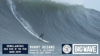 Manny Resano at Maverick's - 2016 Billabong Ride of the Year Entry - WSL Big Wave Awards