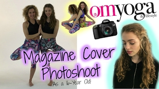 PHOTOSHOOT FOR COVER OF OM YOGA MAGAZINE - Behind the Scenes ;)