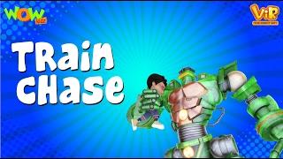 Vir The Robot Boy | Hindi Cartoon For Kids | The Train Chase | Animated Series| Wow Kidz