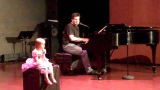 """Tangled - Rapunzel and Eugene Francis - Playing Piano to """"I See the Light"""" - 4.4.11"""