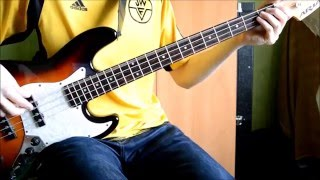 Muse - Knights of Cydonia Bass cover (tapping + outro)