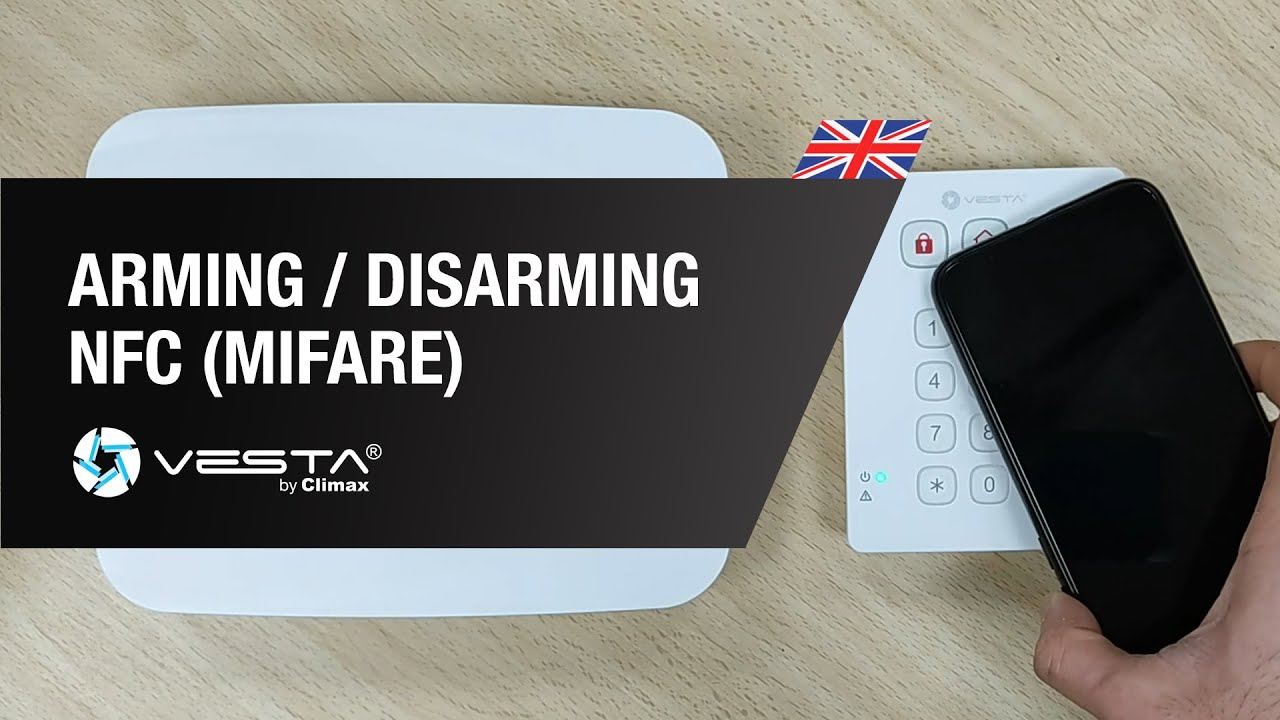 Arming / Disarming VESTA panels with mobile devices by NFC (Mifare)