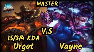Cabochard (URGOT) vs VAYNE - 15/3/4 KDA TOP GAMEPLAY - EUW Ranked MASTER