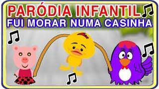 PARÓDIA FUI MORAR NUMA CASINHA (FUI BRINCAR COM A GALINHA ZINHA) - MÚSICA INFANTIL do AQUARELA KIDS