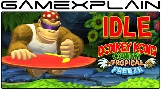 All Idle Animations in DKC: Tropical Freeze on Nintendo Switch (Funky, Maps, Joy-Cons, & 3DS!)