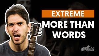 Videoaula More Than Words (aula de violão completa)