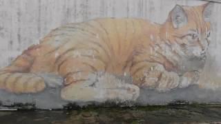Amazing street art in Penang, Malaysia