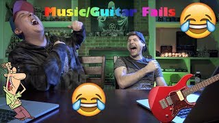 hilarious music/guitar fails!! (with reactions)