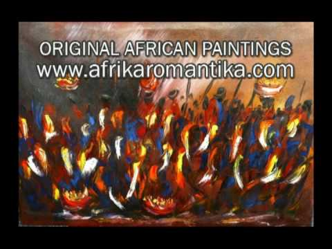 ORIGINAL AFRICAN PAINTINGS – AFRICA – PAINTING – WEBCAM