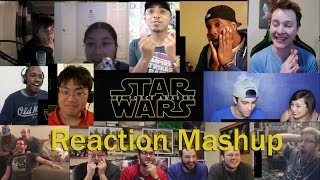 Star Wars  The Force Awakens Official Trailer #3. REACTION MASHUP Part 1