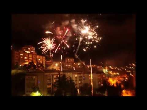 Happy New 2013 Year! Fireworks in Yalta, Ukraine.