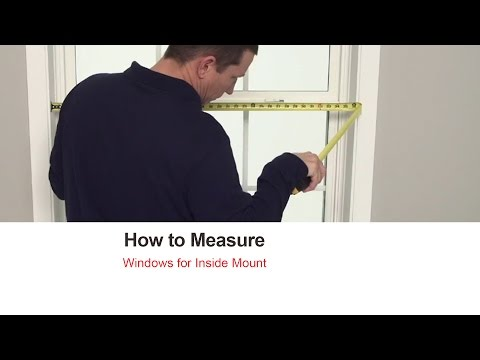 How to Measure Bali Blinds and Shades for Inside Mount