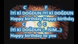İyiki Doğdun Happy Birthday Karaoke Lyrics Mi Majör Rast Chord Karaoke Video Aykut öğretmen