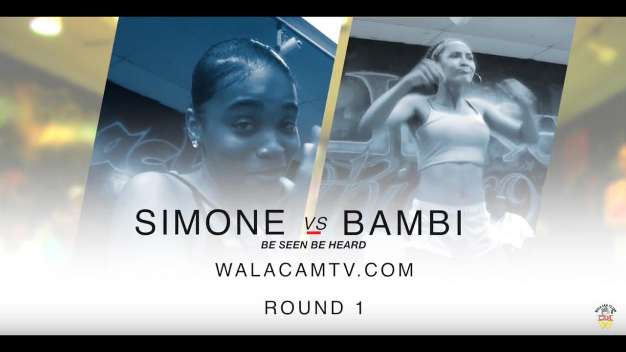 WALACAMTV IT'S ON..HipRoll Battle BAMBIE VS SAMONE RD 1 @ FINAL PHAZE/DA WARZONE!!