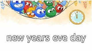 new years eve day - Google Doodle - new years eve day