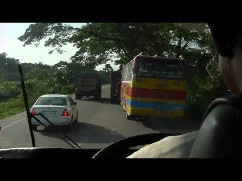 How to drive a bus on the busiest highway of Bangladesh (N1)