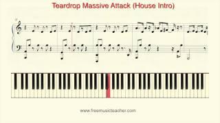 "How To Play Piano: Massive Attack ""Teardrop"" Piano Tutorial by Ramin Yousefi"