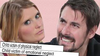 Divorced Couple Looks At Their Wedding Photos width=