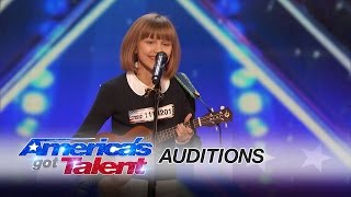 Grace VanderWaal: 12-Year-Old Ukulele Player Gets Golden Buzzer - America's Got Talent 2016 width=