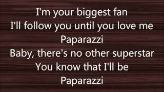 Lyrics to Paparazzi by Greyson Chance