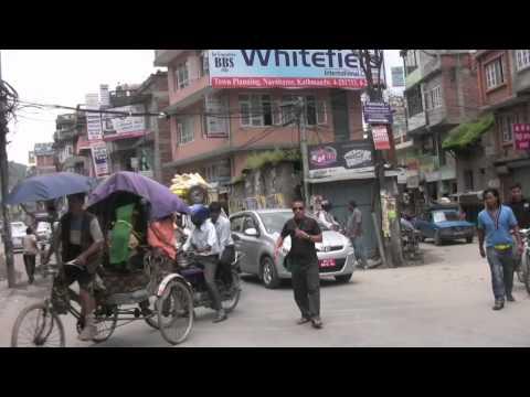 Kathmandu .. on a motorcycle.