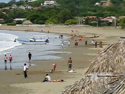 Beach in San Juan del Sur.AVI