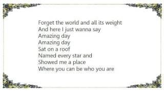 Coldplay - Amazing Day Lyrics