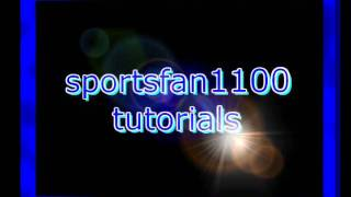 Sportsfan1100's 3D text intro (made in Sony Vegas)